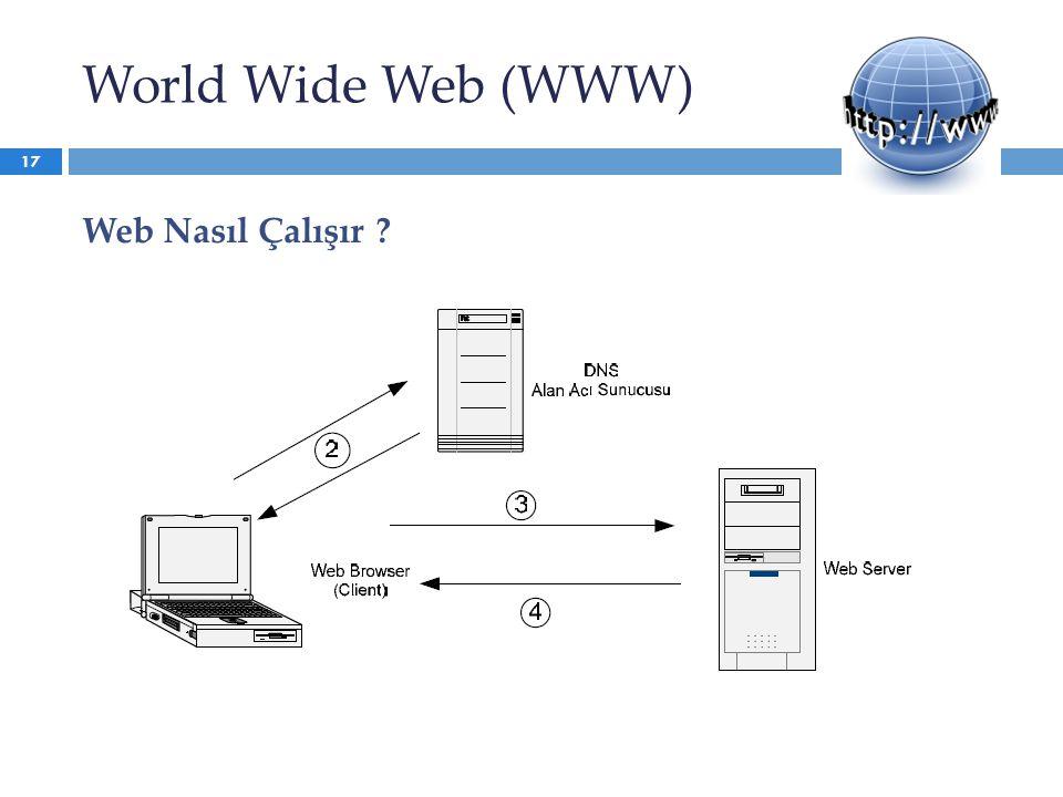 World Wide Web (WWW) Web Nasıl Çalışır ? 17
