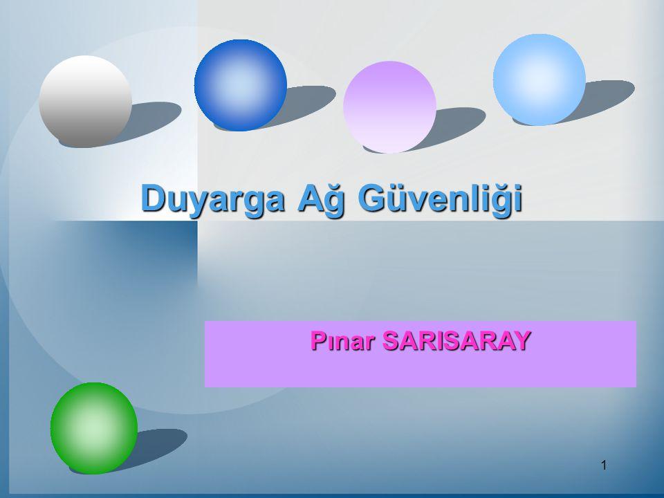 2 Duyarga Ağ Tanımı Belirli bir olguyu algılamak için tasarlanmış yapılar duyarga olarak adlandırılır.