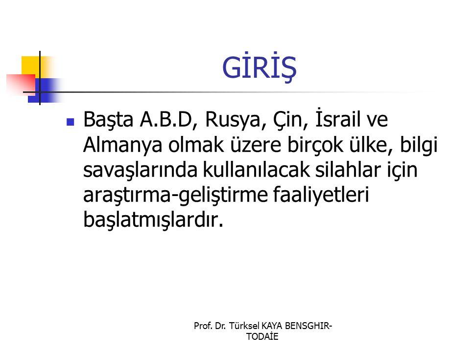 Prof. Dr. Türksel KAYA BENSGHIR- TODAİE ULUSAL BİLGİ SİSTEMLERİ GÜVENLİK PROGRAMI