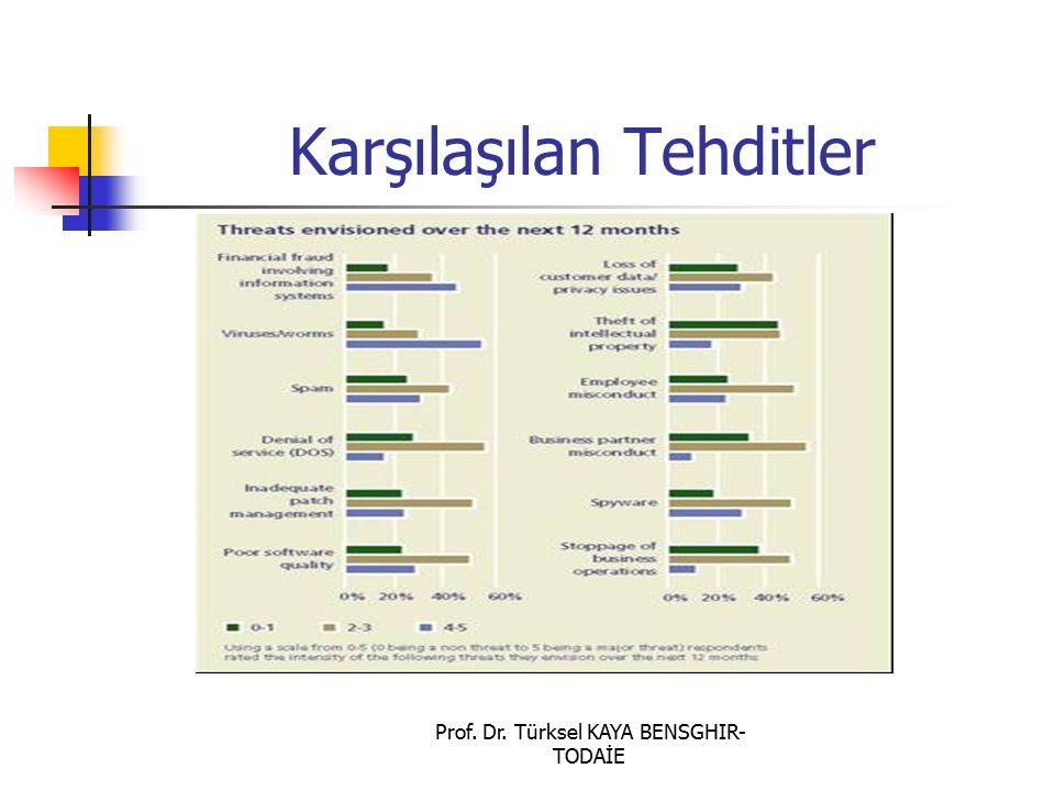 Prof. Dr. Türksel KAYA BENSGHIR- TODAİE Karşılaşılan Tehditler
