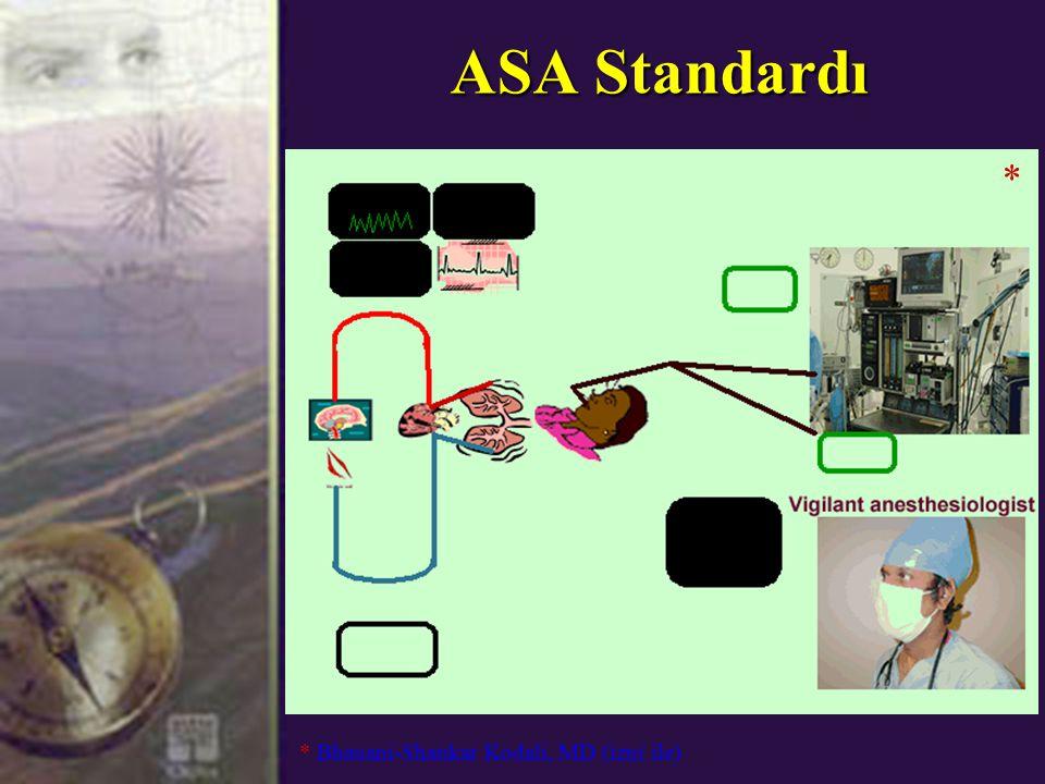 ASA Standardı * Bhauani-Shankar Kodali, MD (izni ile) *