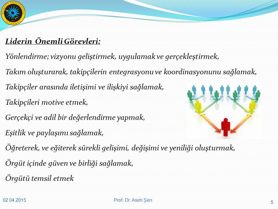 46 Prof. Dr. Asım Şen02.04.2015 Te ş ekkürler Prof. Dr. Asım Ş en asimsen@beykent.edu.tr