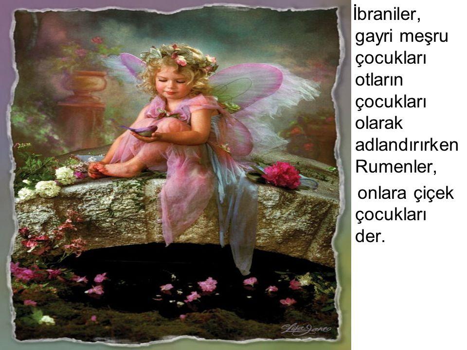 İbraniler, gayri meşru çocukları otların çocukları olarak adlandırırken Rumenler, onlara çiçek çocukları der.