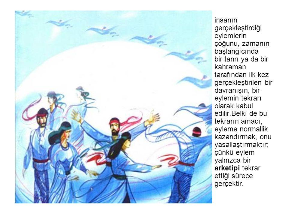 Gök tanrı kozmik ritimlerin ve toplumların dengesinin devamının ve dokunulma zlığının güvencesid ir.