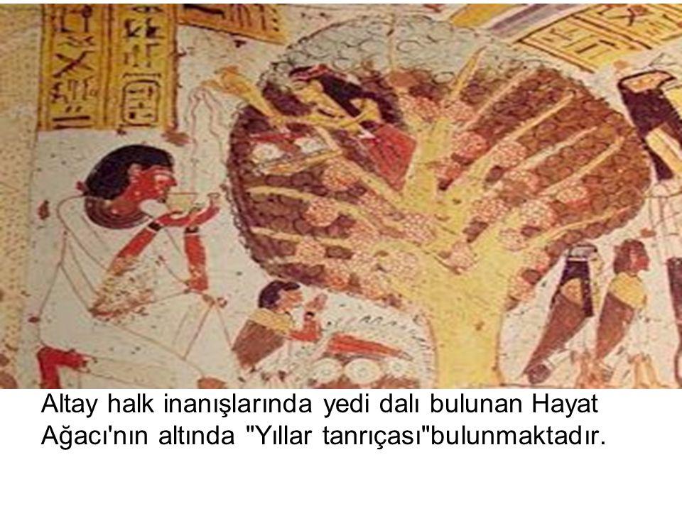 Altay halk inanışlarında yedi dalı bulunan Hayat Ağacı'nın altında