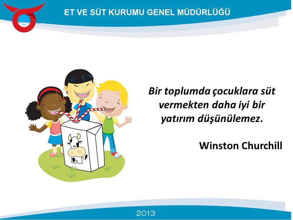 Bir toplumda çocuklara süt vermekten daha iyi bir yatırım düşünülemez. Winston Churchill