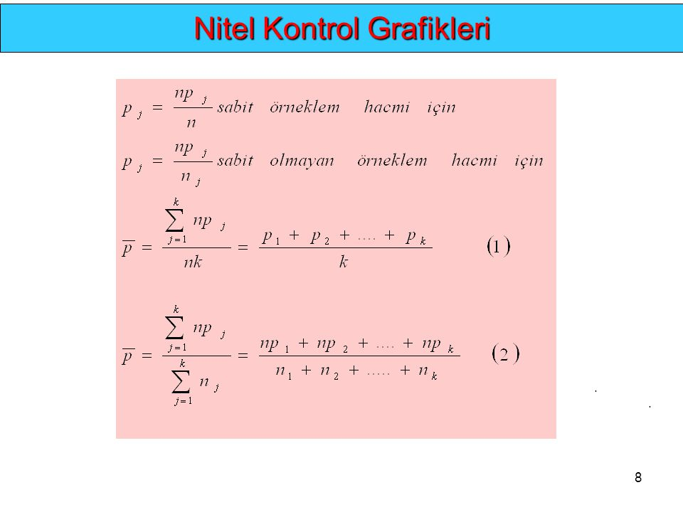 8.... Nitel Kontrol Grafikleri