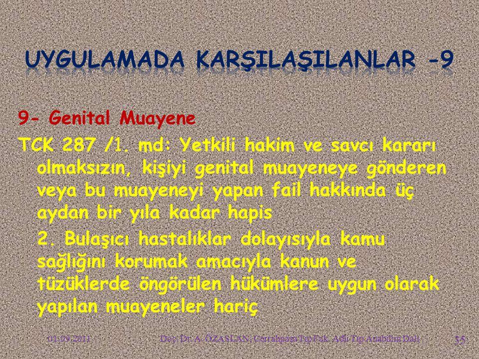 9- Genital Muayene TCK 287 /1.