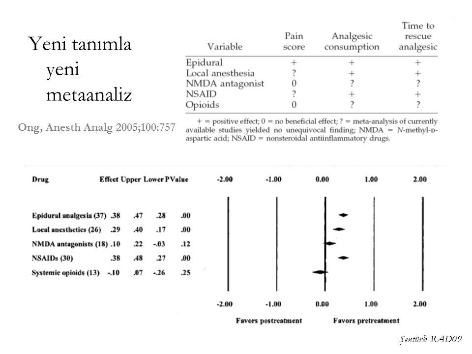 Şentürk-RAD09 Yeni tanımla yeni metaanaliz Ong, Anesth Analg 2005;100:757