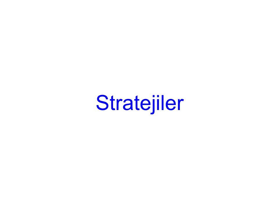 Ufak şeyleri dert etmeyin… Stratejiler