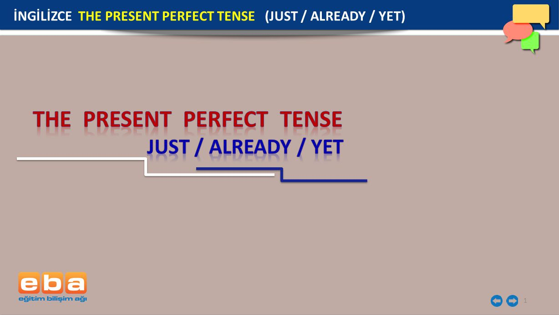 2 Just, az önce / kısa bir süre önce anlamındadır.