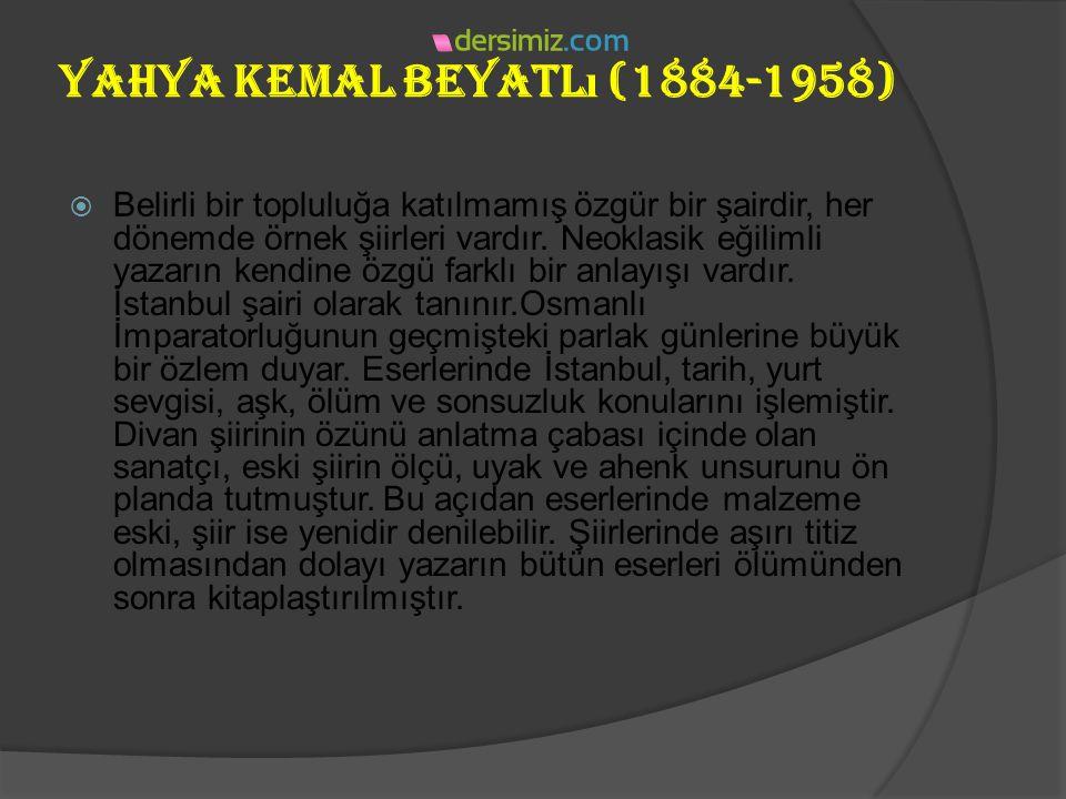yakup Kadri Karaosmano ğ lu (1889-1974 )  Bazı diğer eserleri:  Anı: Zoraki Diplomat, Politikada 45 Yıl, Vatan Yolunda, Gençlik ve Edebiyat Hatırala