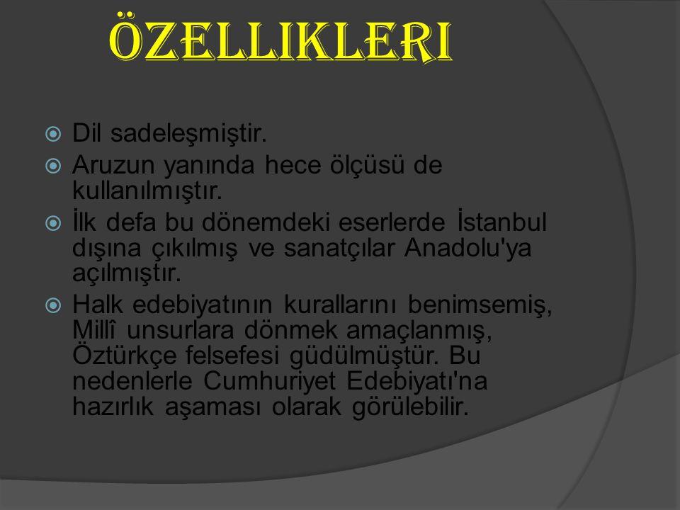Yahya Kemal Beyatl ı (1884-1958)  Belirli bir topluluğa katılmamış özgür bir şairdir, her dönemde örnek şiirleri vardır.