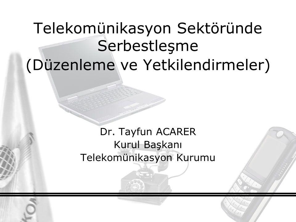 2 Gündem Telekomünikasyon Pazarında Mevcut Durum Düzenlemeler –Pazar Analizi ve EPG –Erişim ve Arabağlantı –Tarifeler –Hizmet Kalitesi Yetkilendirme 2006 Yılı İş Planı