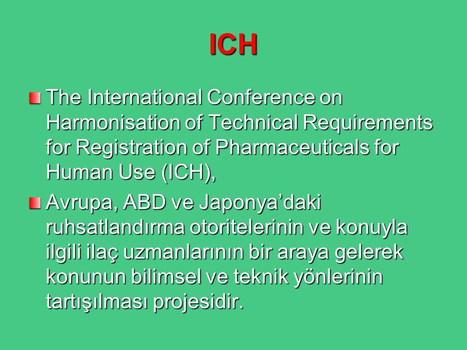 ICH ve CTD 1990'lı yılların ortalarında ICH süreci sonuçlandırılarak kalite, güvenilirlik, etkinlik ve çok yönlülük alanlarında birçok kılavuz oluşturulmuştur.