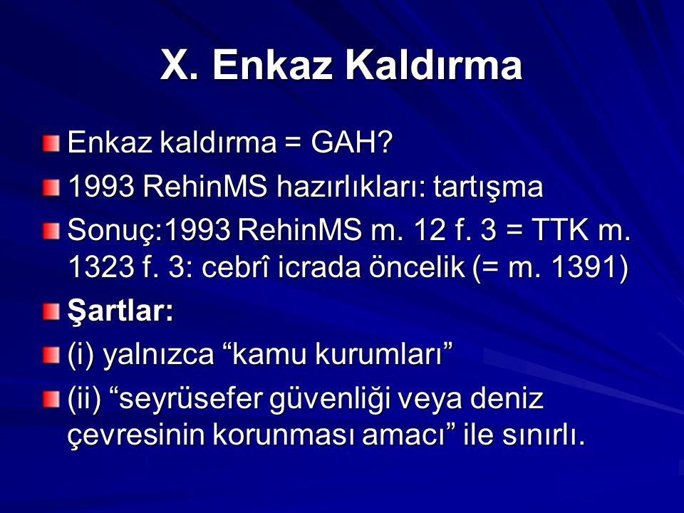 X.Enkaz Kaldırma Enkaz kaldırma = GAH. 1993 RehinMS hazırlıkları: tartışma Sonuç:1993 RehinMS m.