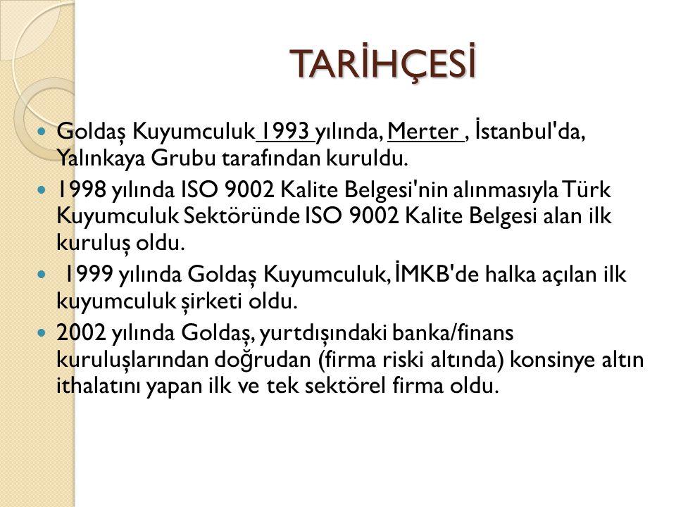 2002 yılında Goldaş Kuyumculuk un ana hissedarı Yalınkaya Grubu, hisselerini yeni kurulan Goldart Holding e devretti.
