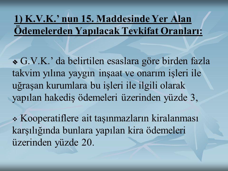 1) K.V.K.' nun 15.