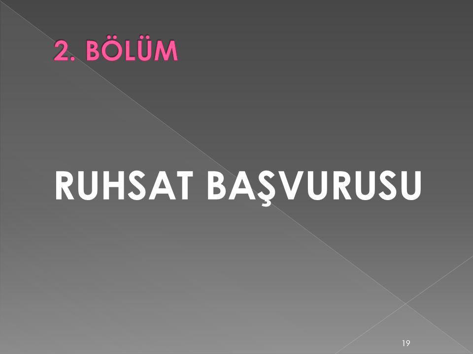 RUHSAT BAŞVURUSU 19