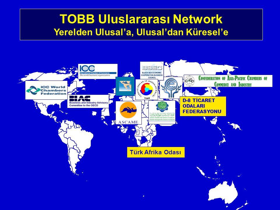 D-8 TİCARET ODALARI FEDERASYONU TOBB Uluslararası Network Yerelden Ulusal'a, Ulusal'dan Küresel'e