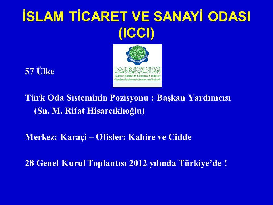 57 Ülke Türk Oda Sisteminin Pozisyonu : Başkan Yardımcısı (Sn. M. Rifat Hisarcıklıoğlu) Merkez: Karaçi – Ofisler: Kahire ve Cidde 28 Genel Kurul Topla