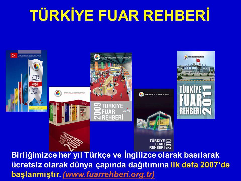 TÜRKİYE FUAR REHBERİ Birliğimizce her yıl Türkçe ve İngilizce olarak basılarak ücretsiz olarak dünya çapında dağıtımına ilk defa 2007'de başlanmıştır.