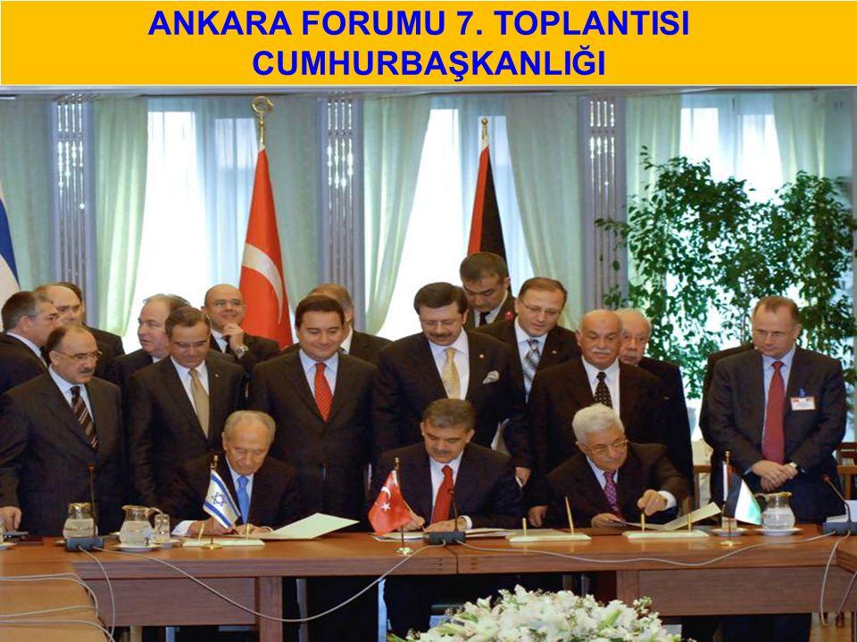 ANKARA FORUMU 7. TOPLANTISI CUMHURBAŞKANLIĞI