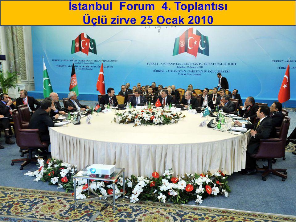 İstanbul Forum 4. Toplantısı Üçlü zirve 25 Ocak 2010