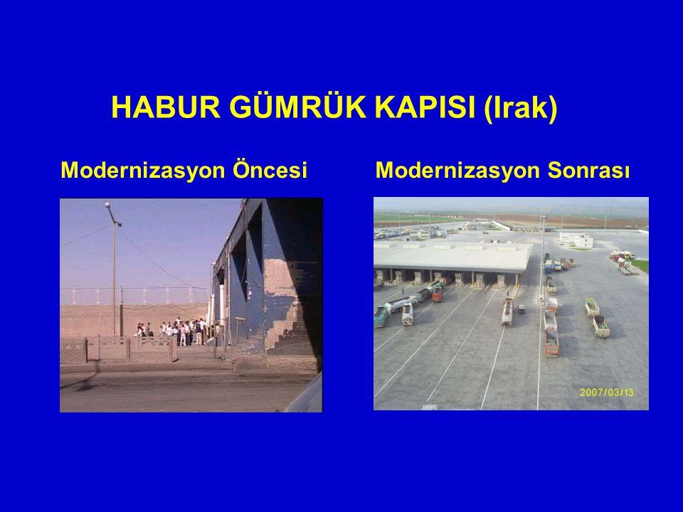 HABUR GÜMRÜK KAPISI (Irak) Modernizasyon ÖncesiModernizasyon Sonrası