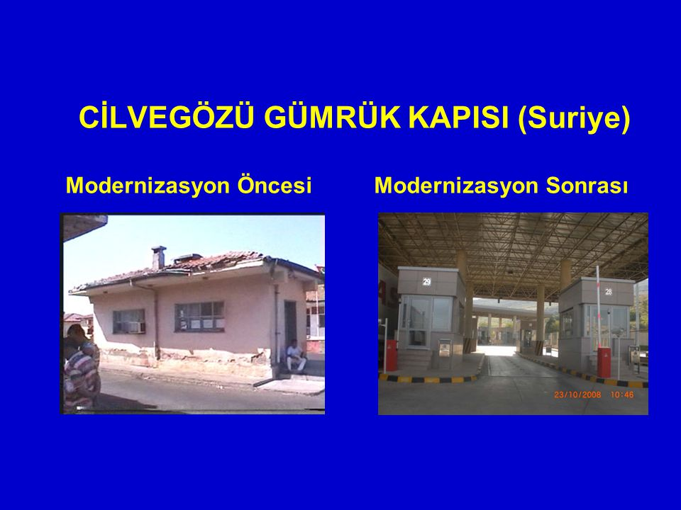 CİLVEGÖZÜ GÜMRÜK KAPISI (Suriye) Modernizasyon ÖncesiModernizasyon Sonrası