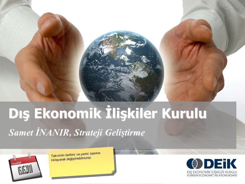 Dış Ekonomik İlişkiler Kurulu Samet İNANIR, Strateji Geliştirme Takvimin tarihini ve yerini üzerine tıklayarak değiştirebilirsiniz.