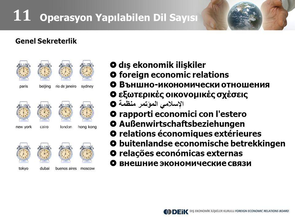 Operasyon Yapılabilen Dil Sayısı  dış ekonomik ilişkiler  foreign economic relations  Външно-икономически отношения  εξωτερικές οικονομικές σχέσει