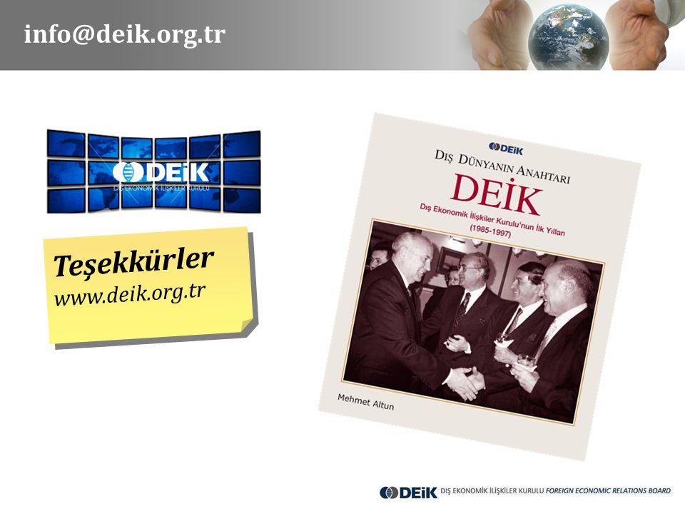 info@deik.org.tr Teşekkürler www.deik.org.tr Teşekkürler www.deik.org.tr