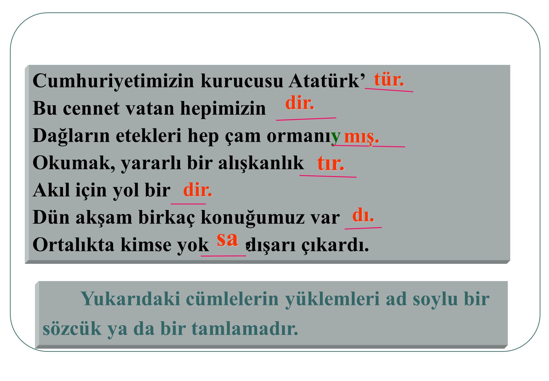 Atatürk' Cumhuriyetimizin kurucusu Atatürk' tür. hepimizin Bu cennet vatan hepimizindir. çam ormanı Dağların etekleri hep çam ormanıymış. yararlı bir
