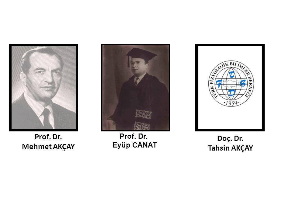 Prof. Dr. Mehmet AKÇAY Doç. Dr. Tahsin AKÇAY Prof. Dr. Eyüp CANAT