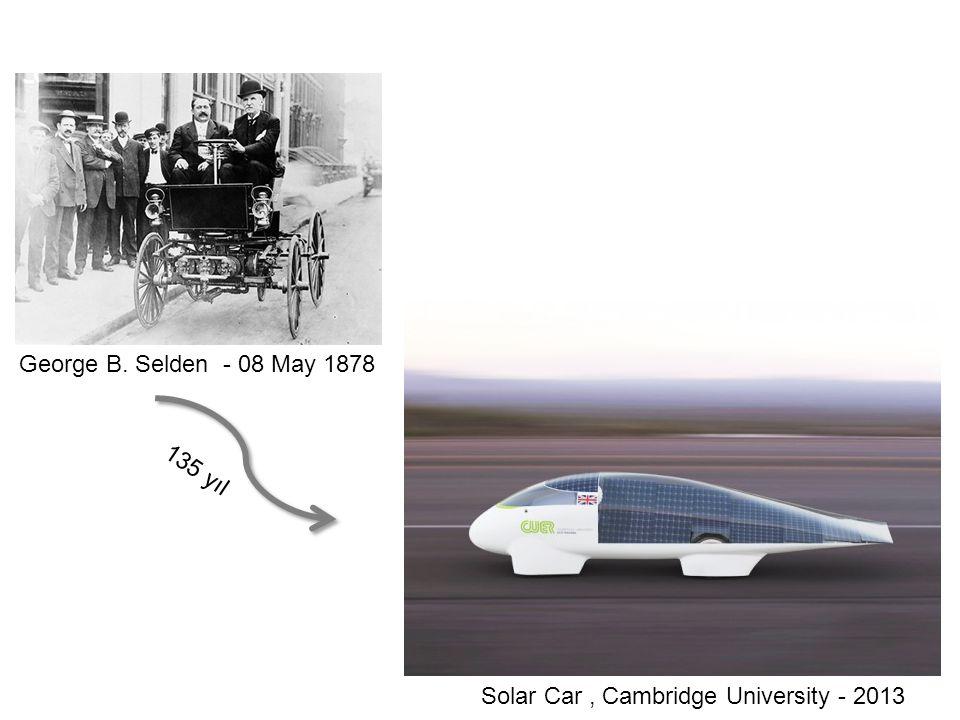 George B. Selden - 08 May 1878 Solar Car, Cambridge University - 2013 135 yıl