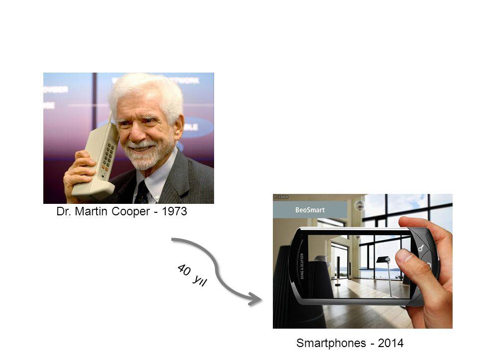 Dr. Martin Cooper - 1973 Smartphones - 2014 40 yıl