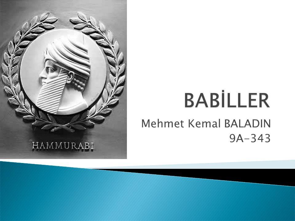 Mehmet Kemal BALADIN 9A-343