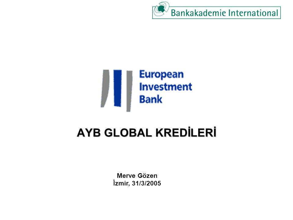AYB GLOBAL KREDİLERİ Merve Gözen İzmir, 31/3/2005