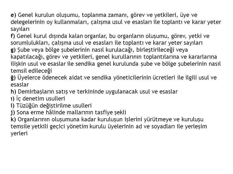 (3) Üst kuruluş üyeliğinden çıkarılma, üst kuruluş genel kurulu kararıyla olur.