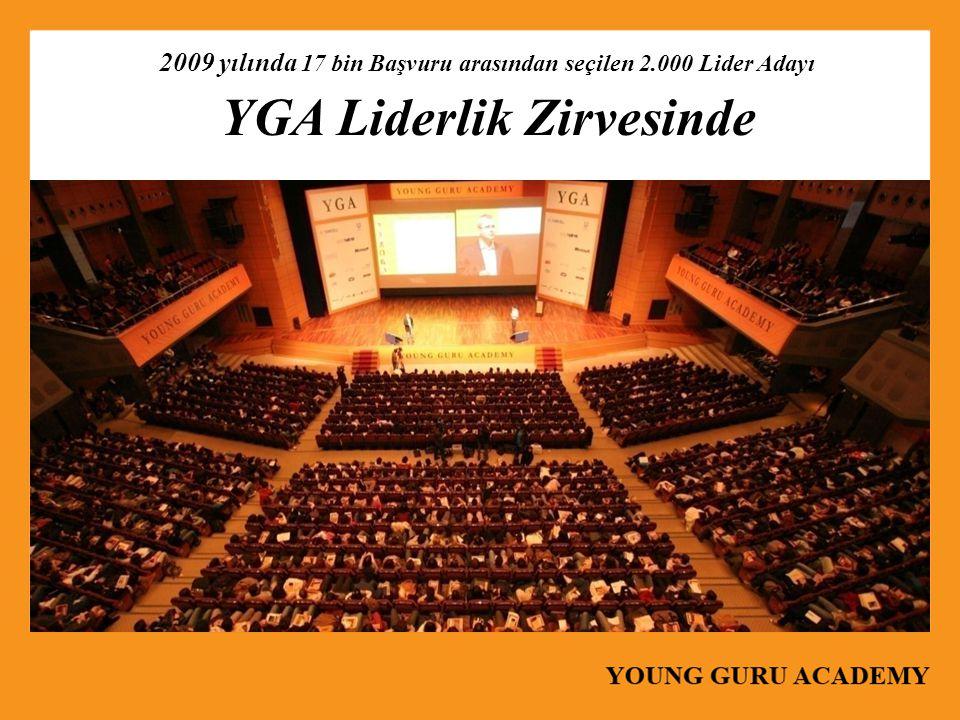 2009 yılında 17 bin Başvuru arasından seçilen 2.000 Lider Adayı YGA Liderlik Zirvesinde