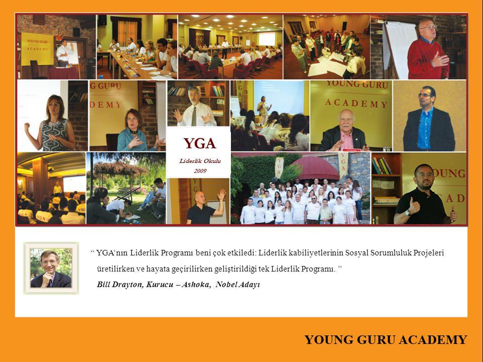 """"""" YGA'nın Liderlik Programı beni çok etkiledi: Liderlik kabiliyetlerinin Sosyal Sorumluluk Projeleri üretilirken ve hayata geçirilirken geliştirildiği"""