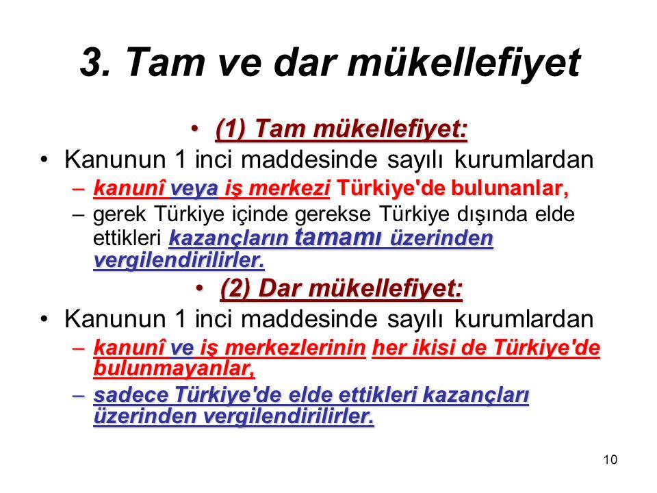 9 2. Mükellefler (7) İş ortaklıkları:(7) İş ortaklıkları: Yukarıdaki fıkralarda yazılı kurumların –kendi aralarında –kendi aralarında veya –şahıs orta