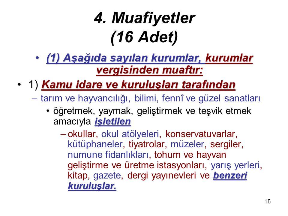 14 3. Tam ve dar mükellefiyet (6) İş merkezi:(6) İş merkezi: –İş bakımından –işlemlerin fiilen toplandığı ve –yönetildiği merkezdir.