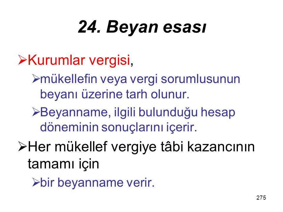 274 23. Yabancı ulaştırma kurumlarında kurum kazancının tespiti Türkiye dışındaki taşımacılık faaliyeti için diğer kurumlar hesabına –Türkiye'de sattı