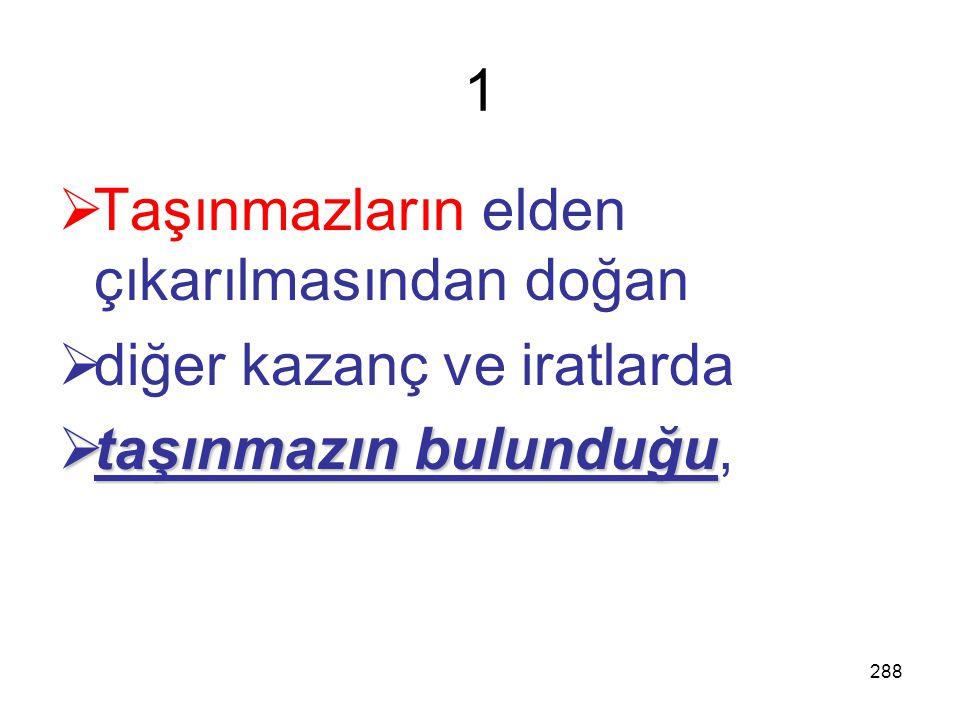 287 27. Beyannamenin verilme yeri Özel beyan zamanı tayin olunan gelirlerle ilgili kurumlar vergisi beyannamesi; (7 Yer)