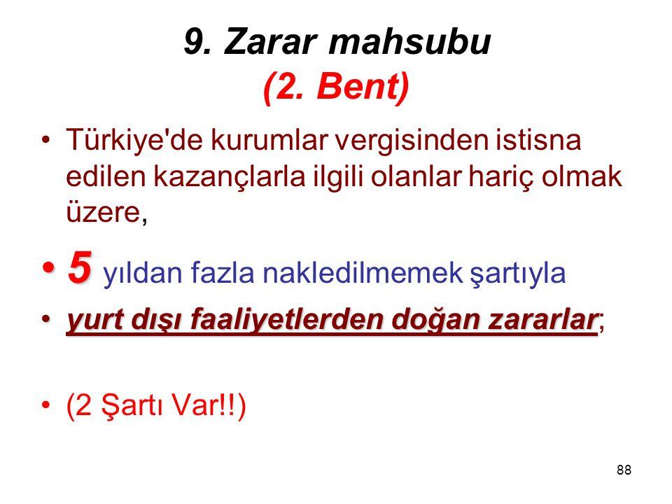 87 2. Şart Devralınan kurumunfaaliyetine 5 devam edilmesiDevralınan kurumun faaliyetine devir veya bölünmenin meydana geldiği hesap döneminden itibare