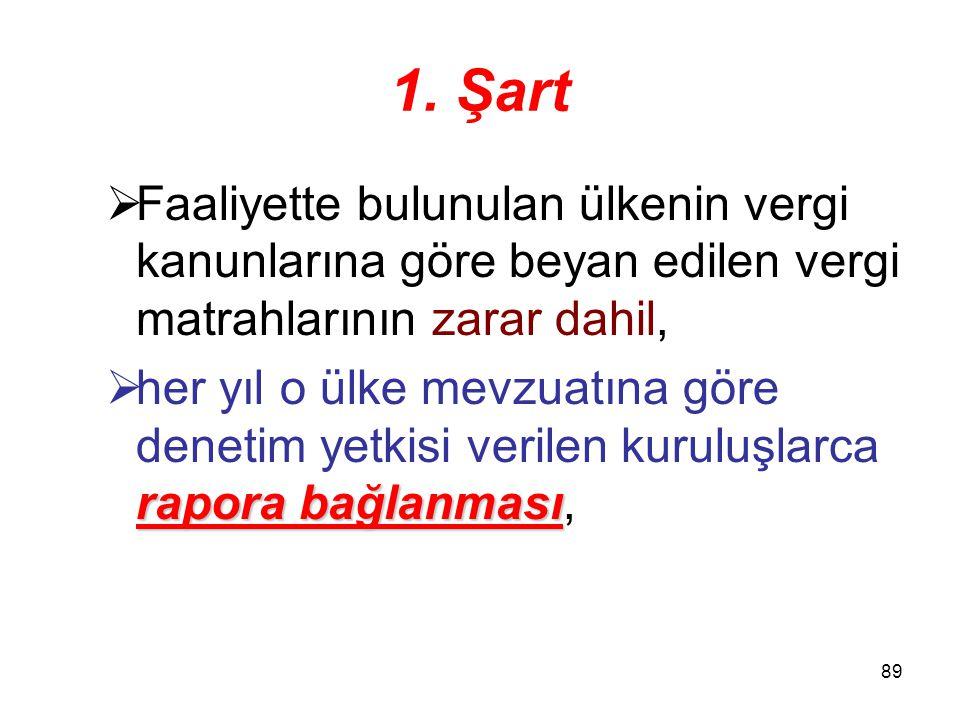 88 9. Zarar mahsubu (2. Bent) Türkiye'de kurumlar vergisinden istisna edilen kazançlarla ilgili olanlar hariç olmak üzere, 55 yıldan fazla nakledilmem