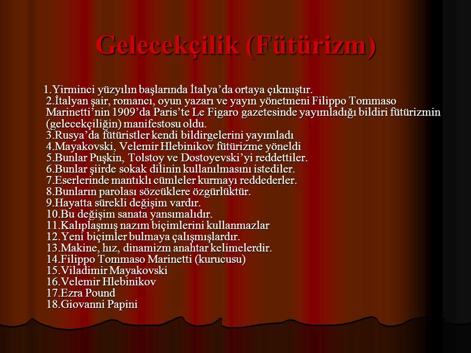 Serbest Nazım ve Toplumcu Şiirin Önemli Temsilcileri 1.
