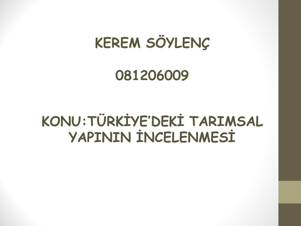 KAYNAKLAR Türkiye'de Tarım Editör Prof.Dr.